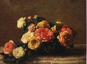 Henri Fantin-Latour Roses in a Bowl oil painting picture wholesale