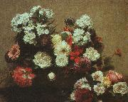 Henri Fantin-Latour Still Life with Flowers  2 oil painting artist