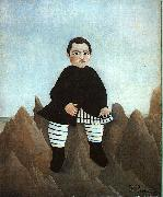 Henri Rousseau Boy on the Rocks oil painting artist