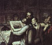 Honore  Daumier The Print Collectors oil painting picture wholesale