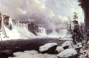 Hyppolyte Victor Sebron Winter at Niagara Falls oil painting artist