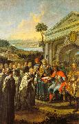 Istvan Dorfmeister Bela III Founding the Cistercian Monastery at Szentgotthard in 1183 oil painting picture wholesale