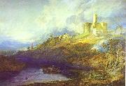 J.M.W. Turner Warkworth Castle Northumberland Thunder Storm Approaching at Sun-Set. oil painting picture wholesale