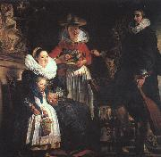 Jacob Jordaens The Painter's Family oil painting picture wholesale
