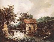 Jacob van Ruisdael Two Watermills and an Open Sluice near Singraven oil painting artist
