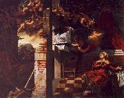 Jacopo Robusti Tintoretto The Annunciation oil painting artist