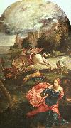 Jacopo Robusti Tintoretto St.George and the Dragon oil painting artist