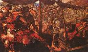 Jacopo Robusti Tintoretto Battle oil painting artist