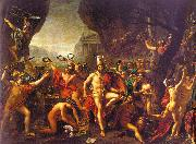 Jacques-Louis  David Leonidas at Thermopylae oil painting artist