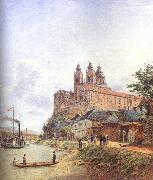 Jakob Alt The Monastery of Melk on the Danube oil