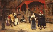 James Tissot Meeting of Faust and Marguerite oil painting picture wholesale