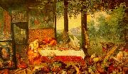 Jan Brueghel The Sense of Taste Germany oil painting reproduction
