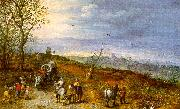 Jan Brueghel Wayside Encounter Germany oil painting reproduction