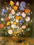 Jan Brueghel Bouquet of Flowers in a Clay Vase Germany oil painting reproduction