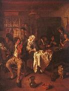 Jan Steen Inn with Violinist Card Players oil painting picture wholesale