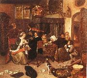 Jan Steen The Dissolute Household oil painting picture wholesale