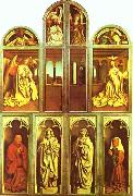 Jan Van Eyck The Ghent Altarpiece with altar wings closed oil painting picture wholesale