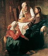 Jan Vermeer Christ in the House of Martha and Mary oil painting artist