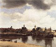 Jan Vermeer View of Delft oil painting artist