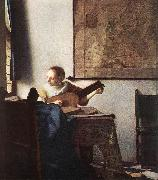 Jan Vermeer Woman with a Lute near Window oil painting artist
