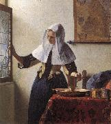 Jan Vermeer Young Woman with a Water Jug oil painting picture wholesale