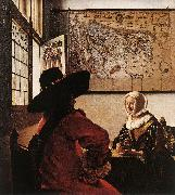 Jan Vermeer Officer with a Laughing Girl oil painting picture wholesale