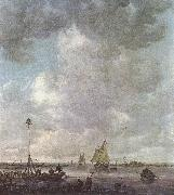 Jan van Goyen Marine Landscape with fishermen oil painting picture wholesale