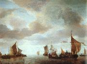 Jan van de Cappelle Ships on a Calm Sea near Land oil painting picture wholesale
