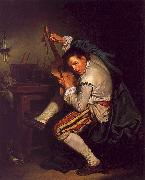 Jean Baptiste Greuze The Guitarist oil painting artist