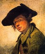 Jean Baptiste Greuze A Young Man in a Hat oil painting artist