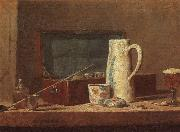 Jean Baptiste Simeon Chardin Pipes and Drinking Pitcher oil painting picture wholesale