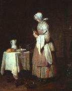 Jean Baptiste Simeon Chardin The Attentive Nurse oil painting picture wholesale