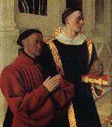 Jean Fouquet Etienne Chevalier and Saint Stephen oil painting picture wholesale