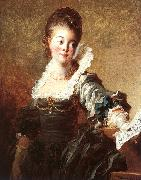 Jean Honore Fragonard Portrait of a Singer Holding a Sheet of Music oil painting artist