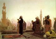 Jean Leon Gerome Prayer on the Rooftops of Cairo oil painting