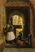 Jean Leon Gerome Arnauts of Cairo at the Gate of Bab-el-Nasr oil painting