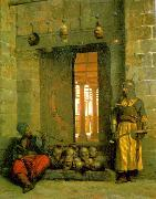 Jean Leon Gerome Heads of the Rebel Beys at the Mosque of El Hasanein oil painting