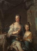 Jean Marc Nattier Madame Marsollier and her Daughter oil painting picture wholesale