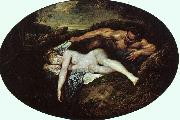 Jean-Antoine Watteau Jupiter and Antiope Germany oil painting reproduction