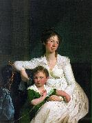 Jens Juel Portrait of a Noblewoman with her Son oil painting picture wholesale