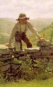 John George Brown The Berry Boy oil