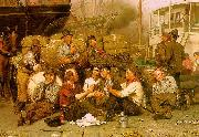 John George Brown The Longshoremen's Noon Germany oil painting reproduction