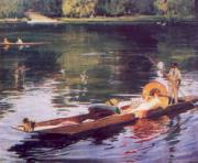 John Lavery The Thames at Maidenhead oil painting artist