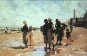 John Singer Sargent Oyster Gatherers of Cancale oil painting artist