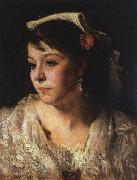 John Singer Sargent Head of an Italian Woman oil painting artist