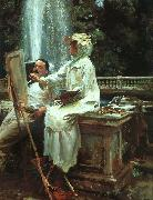 John Singer Sargent The Fountain at Villa Torlonia in Frascati oil painting picture wholesale
