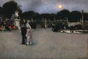 John Singer Sargent In the Luxembourg Gardens oil painting artist