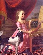 John Singleton Copley Young Lady with a Bird and a Dog oil painting picture wholesale