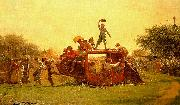 Jonathan Eastman Johnson The Old Stagecoach oil painting artist