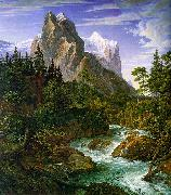 Joseph Anton Koch The Wetterhorn with the Reichenbachtal oil painting picture wholesale